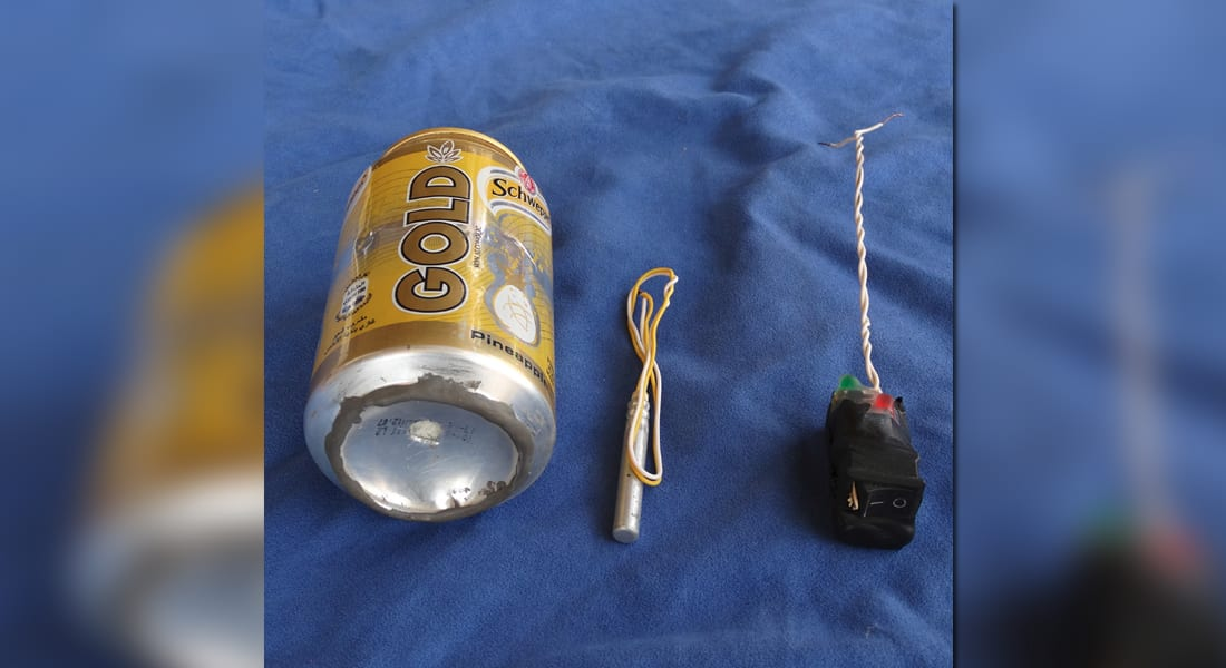"""مجلة """"داعش"""" تنشر صورة تدعي أنها لقنبلة أسقطت الطائرة الروسية في سيناء"""