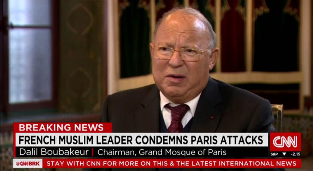 بعد أسبوع على هجمات باريس.. رئيس مسجد باريس الكبير يوجه رسالة عبر CNN للمسلمين بفرنسا