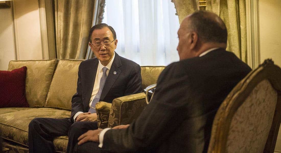 """القاهرة ترفض تصريحات """"متسرعة"""" لبان كي مون حول مقتل سودانيين برصاص الجيش المصري في سيناء"""