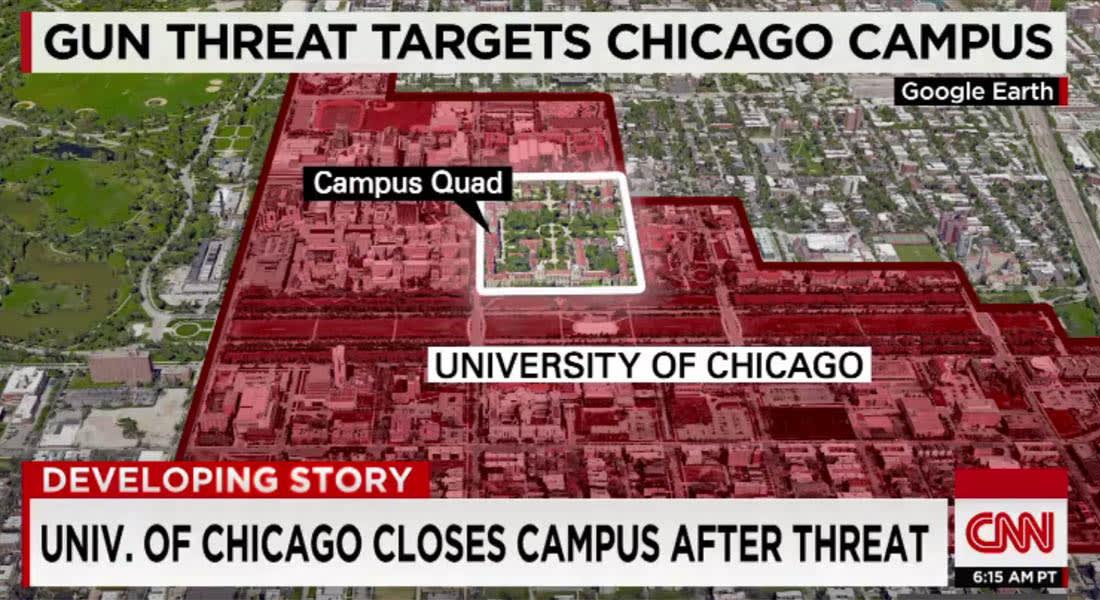 أمريكا.. اعتقال طالب بجامعة شيكاغو بعد تهديدات بإطلاق نار أدت لإغلاق الجامعة