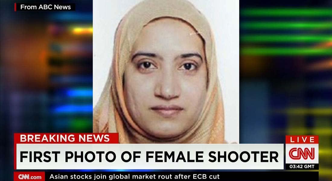 بعد الاشتباه بمبايعتها لداعش.. هذه صورة زوجة وشريكة منفذ هجوم برناردينو.. ومصدر لـCNN: غالبا ما زارت والدها المقيم بالسعودية