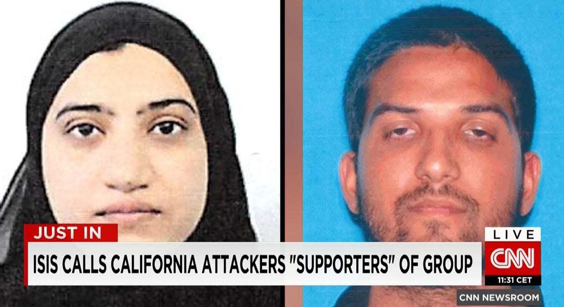 """ببيان منسوب.. داعش يتبنى هجوم سان برناردينو بأمريكا: نفذه اثنان من """"مناصري الدولة"""""""