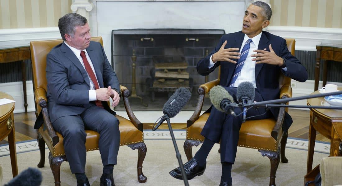 """البيت الأبيض: وقف إطلاق النار في سوريا لا يمنع مواصلة العمل ضد """"داعش"""".. وأوباما يشيد بدور الأردن"""