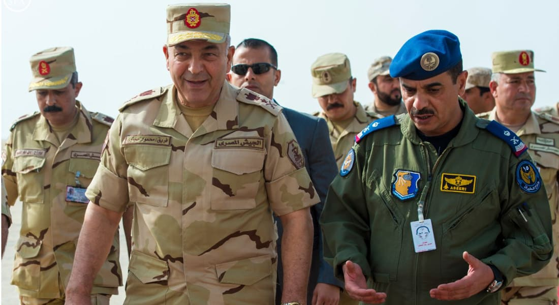 """السيسي يحضر ختام """"رعد الشمال"""" في السعودية.. والرئاسة المصرية: أمن الخليج جزء لا يتجزأ من أمننا القومي"""