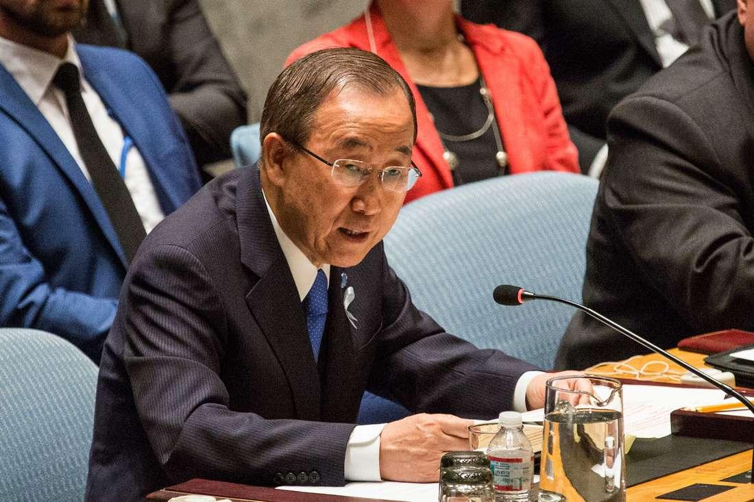 """بان كي مون غاضب من مسيرة الرباط ويعتبر """"استهدافه"""" إساءة للأمم المتحدة"""