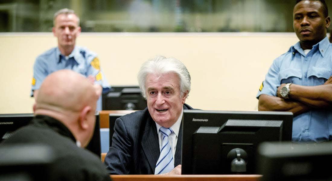 """الجنائية الدولية تقضي بسجن رادوفان كاراديتش 40 عاما لإدانته بجرائم حرب و""""مجزرة سربرنيتشا"""" في البوسنة"""