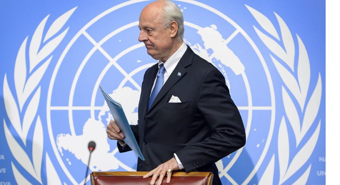 """الأمم المتحدة: جولة جديدة من المحادثات السورية في 9 أبريل.. والمعارضة: دي ميستورا قدم وثيقة """"بناءة"""""""
