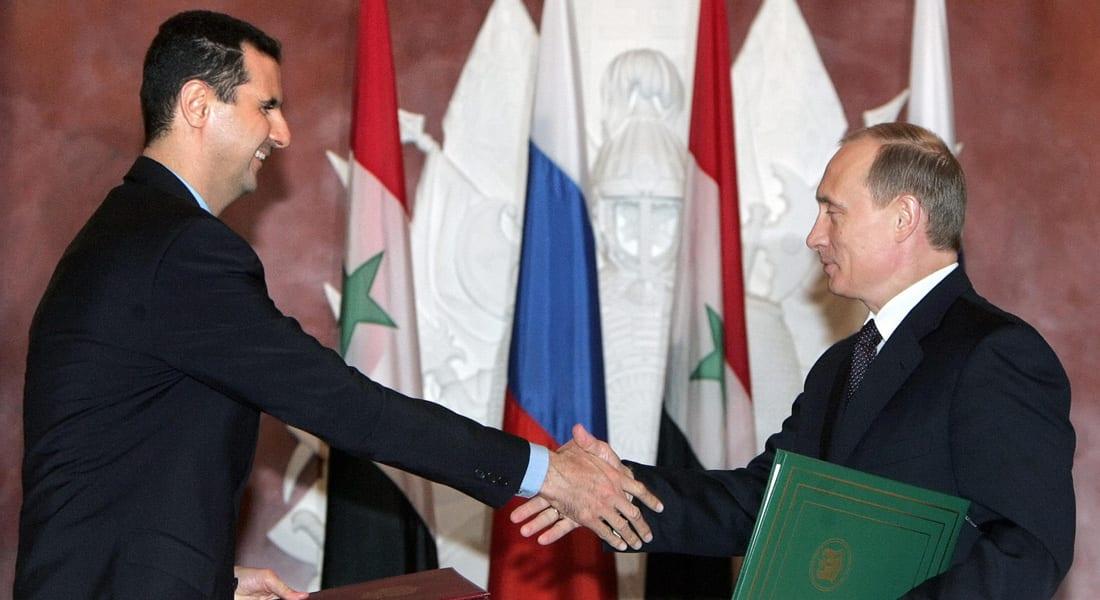 الأسد لبوتين: سنعيد ترميم تدمر.. وتصميم الجيش ودعم القوات الجوية الروسية هما ما حقق هذا الإنجاز