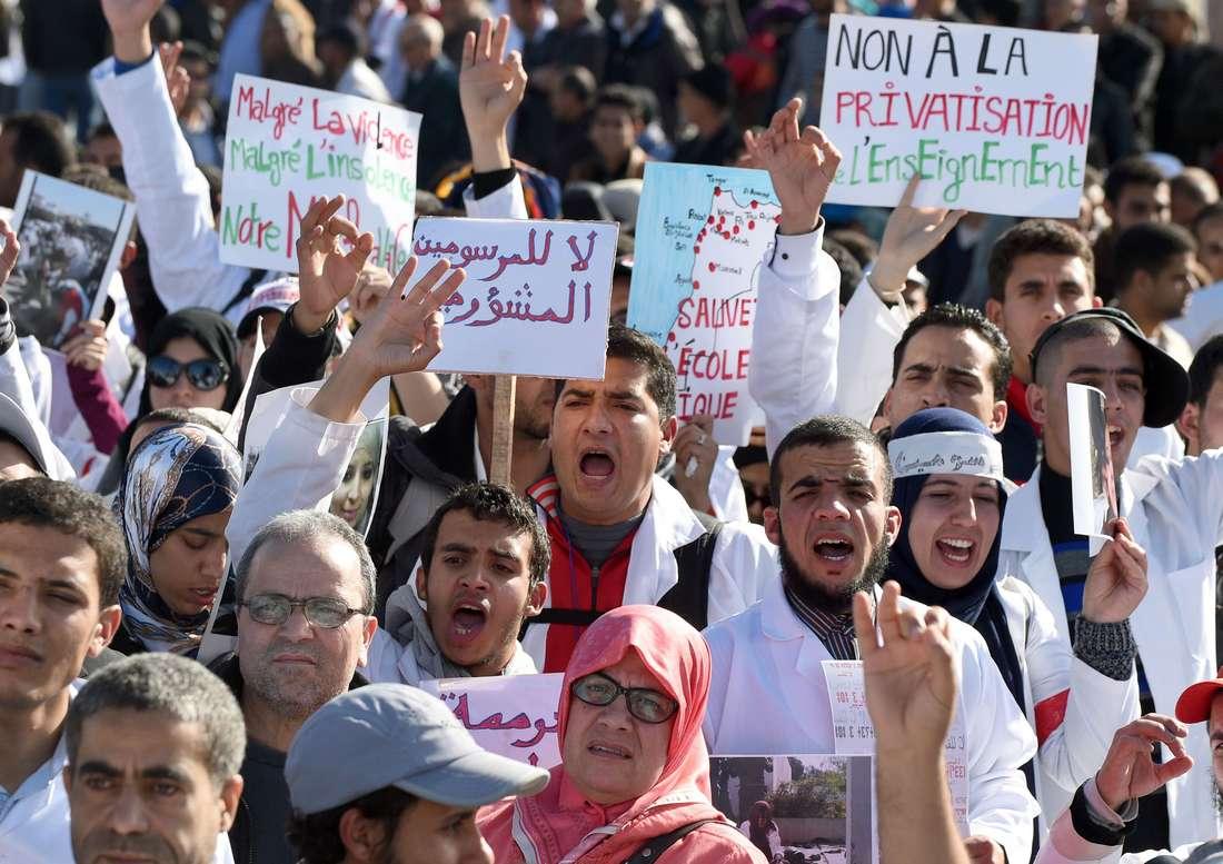 أزمة الأساتذة المتدربين تخلق مواجهة جديدة بين رئيس الحكومة المغربية والمعارضة