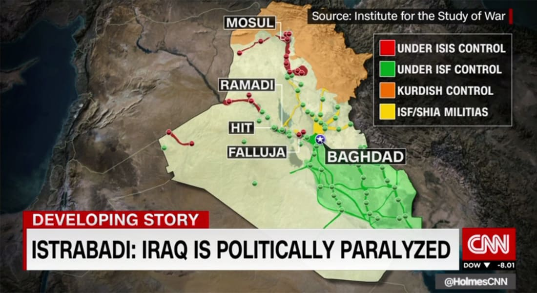"""دبلوماسي عراقي سابق يبين لـCNN: موضوع """"خطير"""" بمعركة الفلوجة وغياب توضيحه يعقد المعركة ضد داعش"""