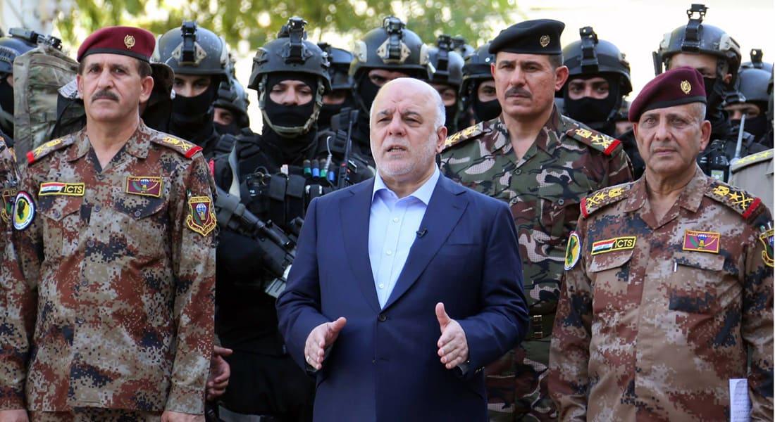 """العبادي يعلن تحرير قاعدة """"القيارة"""" جنوب الموصل.. ويدعو أهالي نينوى إلى الاستعداد لتحرير مدنهم"""