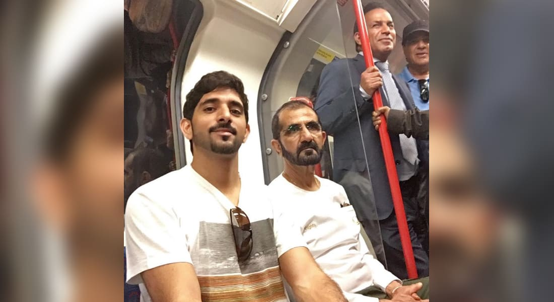بالفيديو.. صور حاكم دبي محمد بن راشد ونجله في مترو لندن تغزو مواقع التواصل
