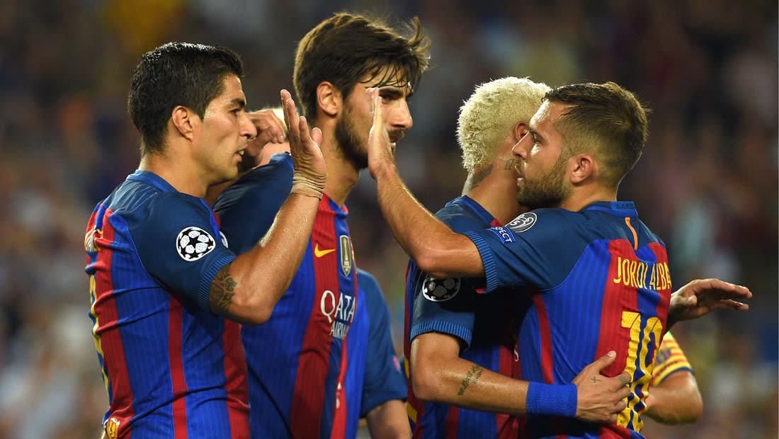 برشلونة يكتسح سيلتيك بسباعية وأرسنال وباريس سان جيرمان يتعادلان