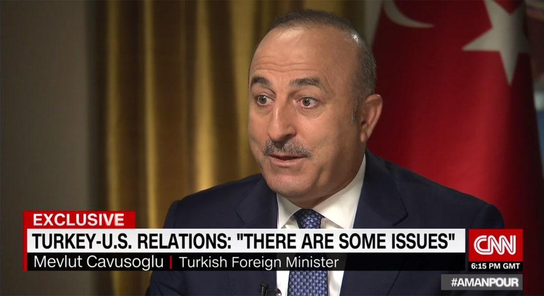 وزير خارجية تركيا لـCNN: هزم داعش سهل ولكن بعمليات برية