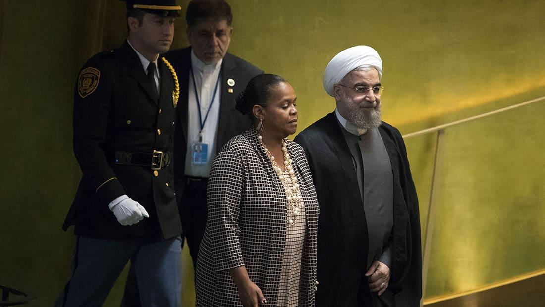روحاني يهاجم السعودية في الأمم المتحدة: عليها الكف عن سياسات التفرقة وانتهاك حقوق الجيران