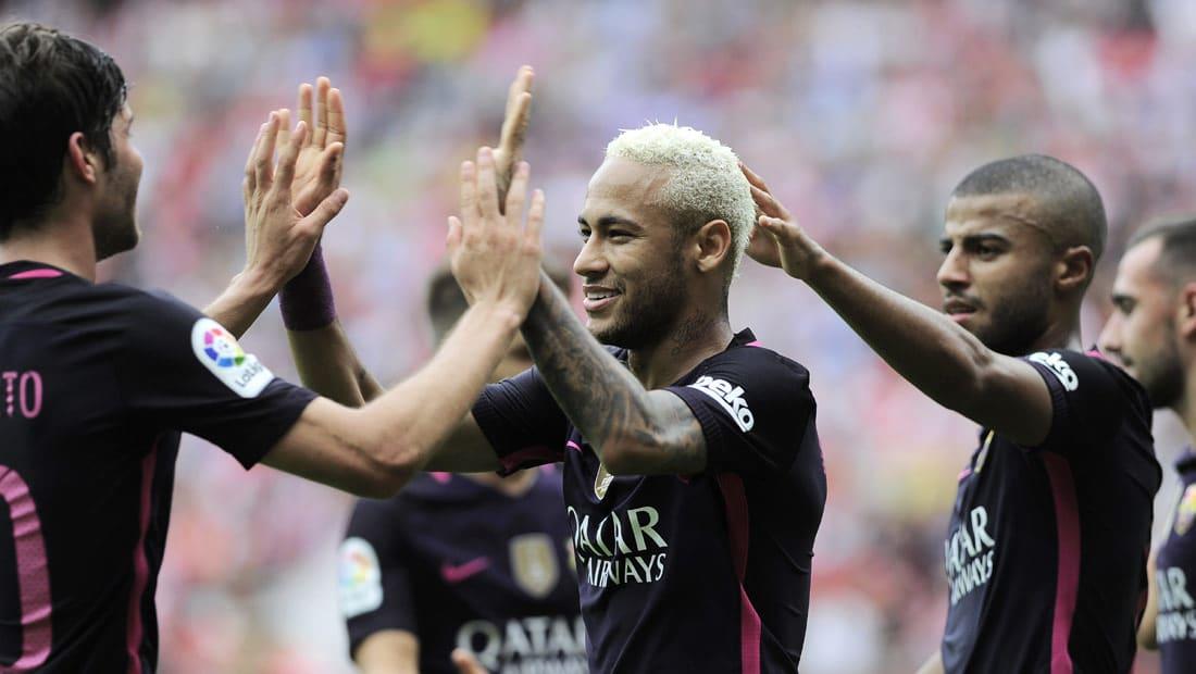برشلونة يستفيق من كبوة أتلتيكو باكتساح خيخون