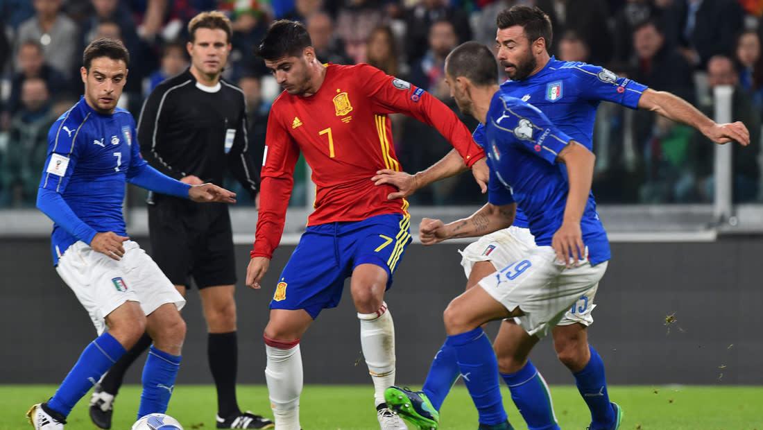 إيطاليا وإسبانيا تتعادلان في تصفيات المونديال