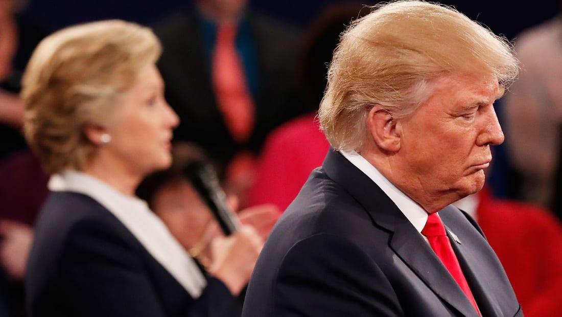 استطلاع CNN: ترامب يخسر المواجهة مجددا مع هيلاري أمام الناخبين