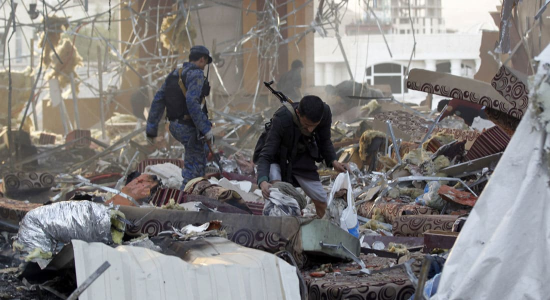 فريق التحقيق بحادثة القاعة الكبرى بصنعاء: السبب معلومات مغلوطة