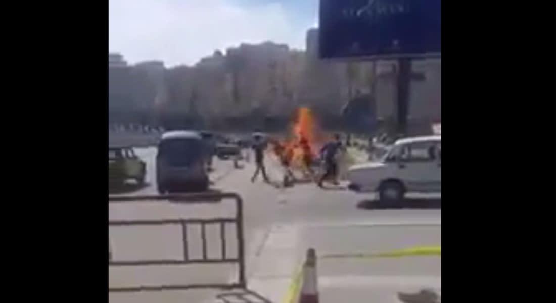 تداول فيديو إحراق مصري لنفسه بالإسكندرية