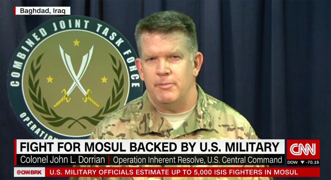 المتحدث باسم التحالف ضد داعش لـCNN يقيّم أداء القوات العراقية بأول يوم بمعركة الموصل