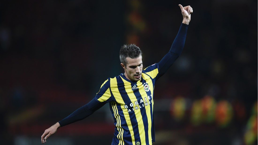جماهير اليونايتد تصفق لفان بيرسي بعد تسجيله هدف في مرماها