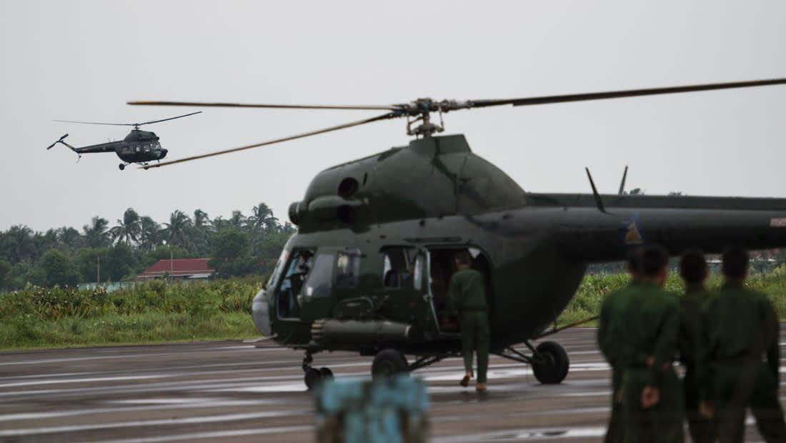 طائرات جيش ميانمار تهاجم مسلحين في مناطق سكن الروهينغا