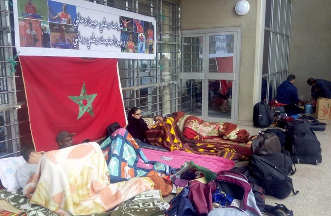 أبطال مغاربة بالألعاب البارالمبية يعتصمون للمطالبة بالتوظيف