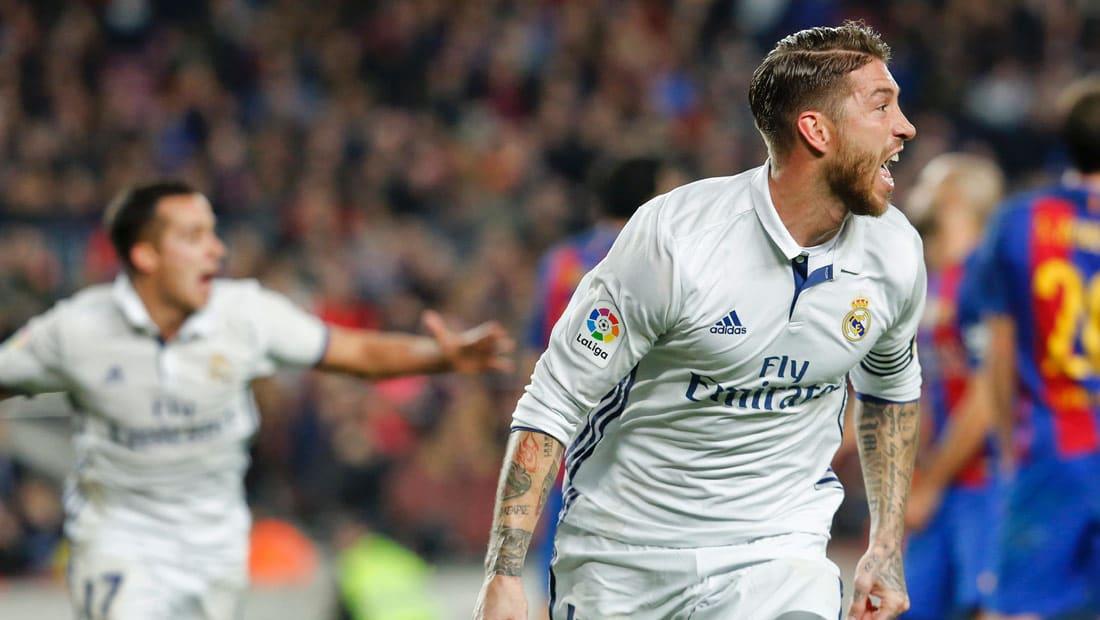 راموس يخطف نقطة التعادل للريال أمام برشلونة