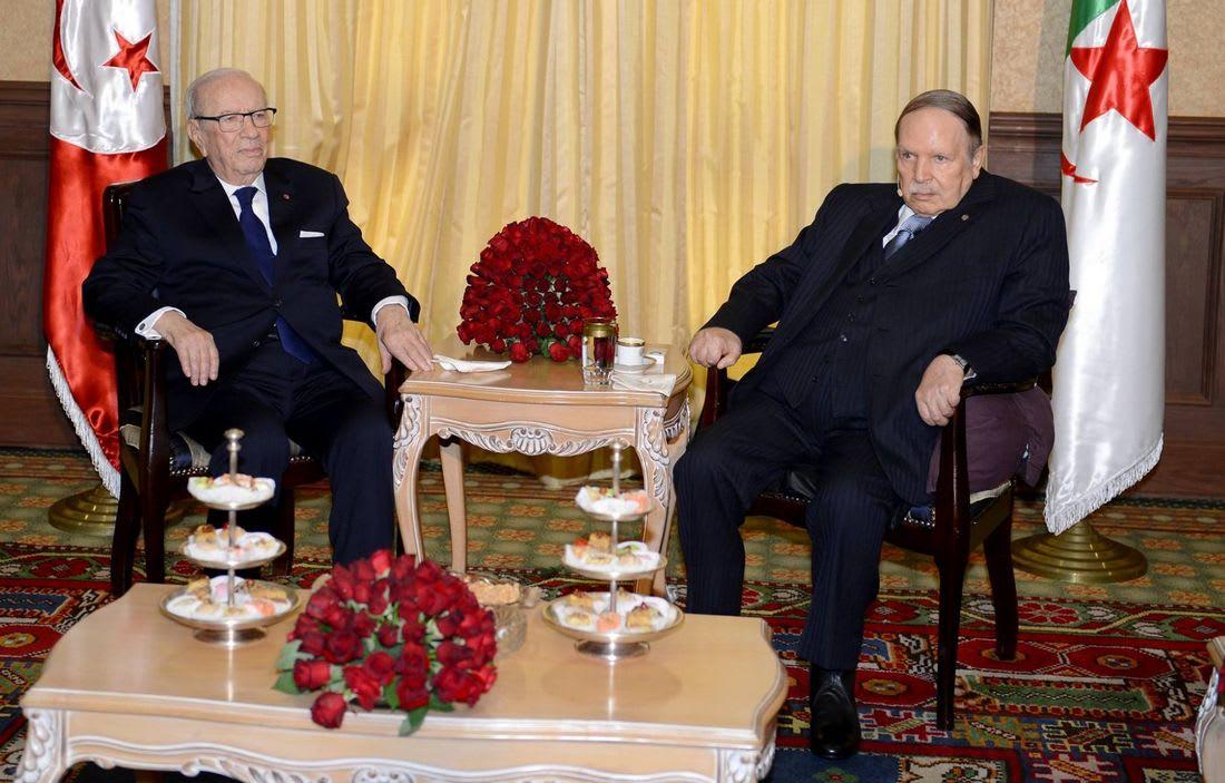 السبسي: أمن تونس من أمن الجزائر.. وحرمتنا الترابية خط أحمر