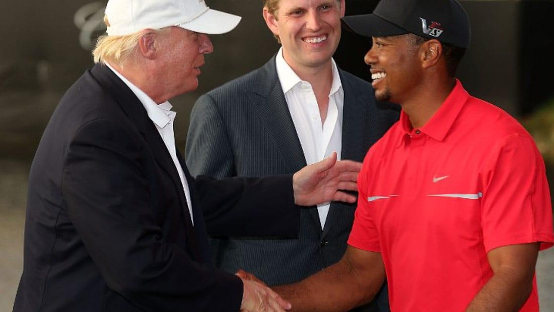 ترامب يبتعد عن ضغوط السياسة بلعب الغولف مع تايغر وودز