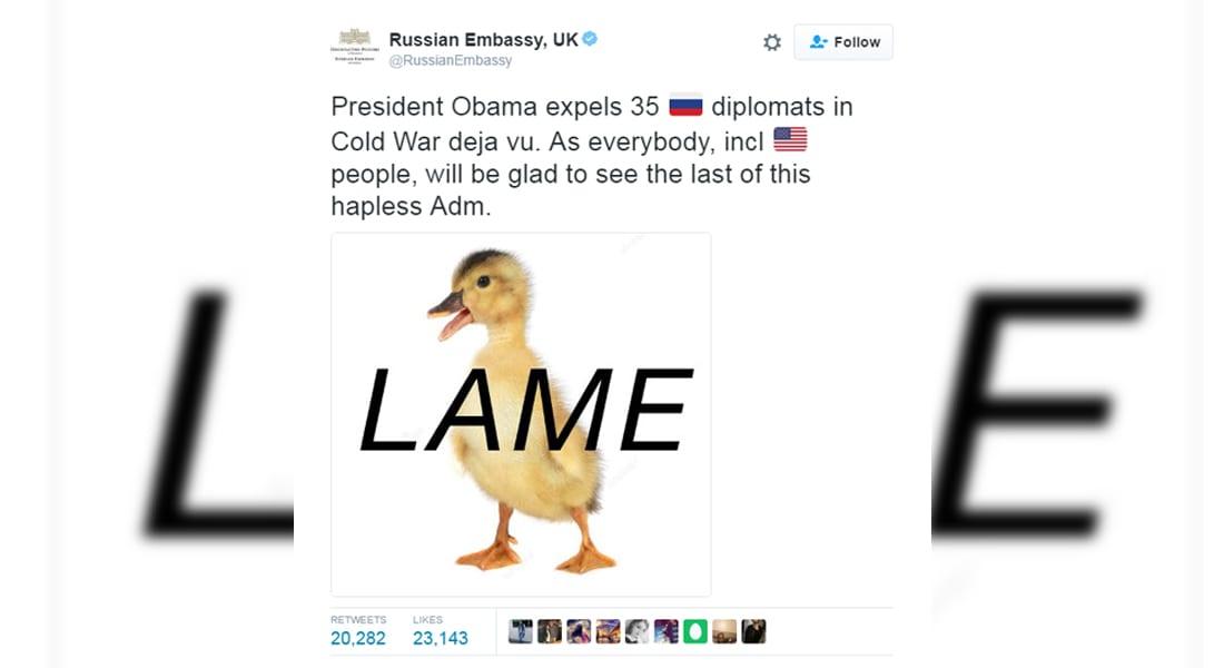 روسيا ترد على أمريكا بموجة من الإهانات على الانترنت