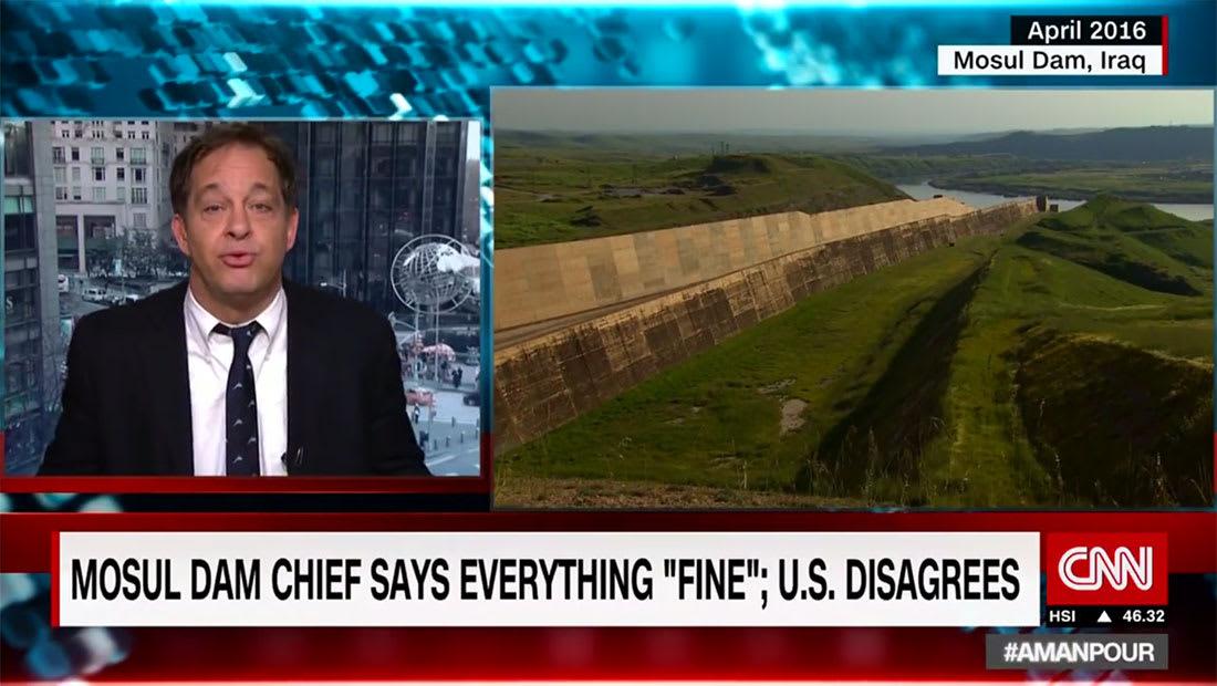 احتمال انهيار سد الموصل.. فيلكنز لـCNN: نحو مليون قتيل وبغداد ستغرق بعد ثلاثة أيام