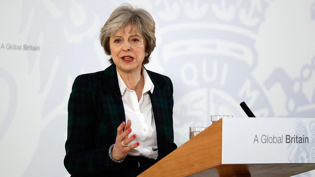 ماي تتحدث عن خطة خروج بريطانيا من EU والجنيه الإسترليني يرتفع 2%