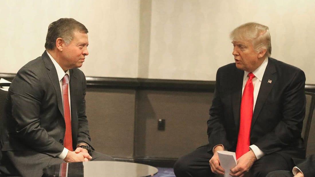 العاهل الأردني يلتقي ترامب ويؤكدان على ضرورة التعاون ضد الإرهاب