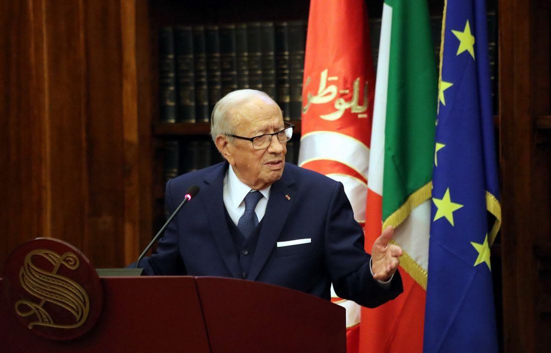 السبسي من إيطاليا: المسلمون أول المتضررين من الإرهاب المتستر بالدين