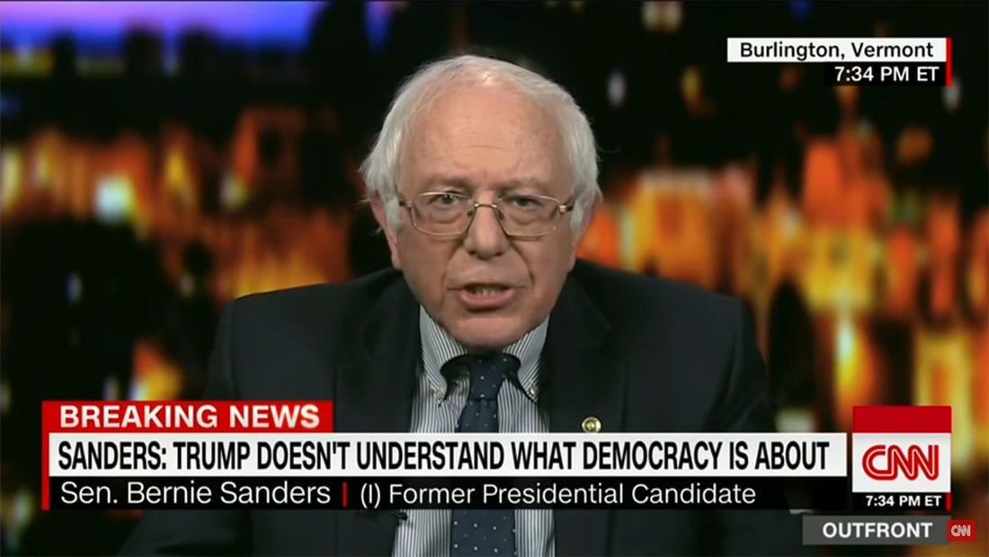 بيرني ساندرز لـCNN: ترامب واهم وأدخلنا حقبة جديدة