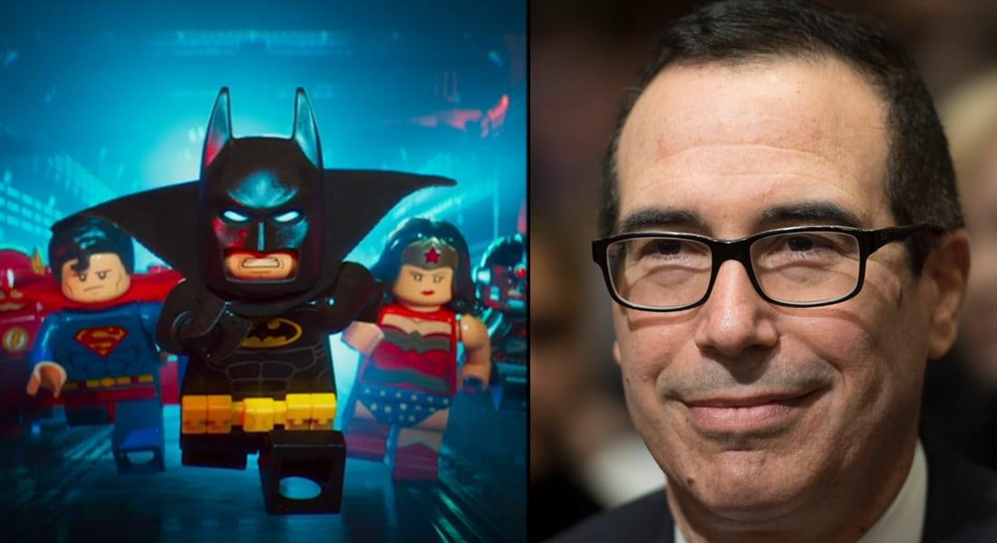 """منتج فيلم """"ليغو باتمان"""" اليوم.. وزير الخزانة الأمريكية غداً؟"""