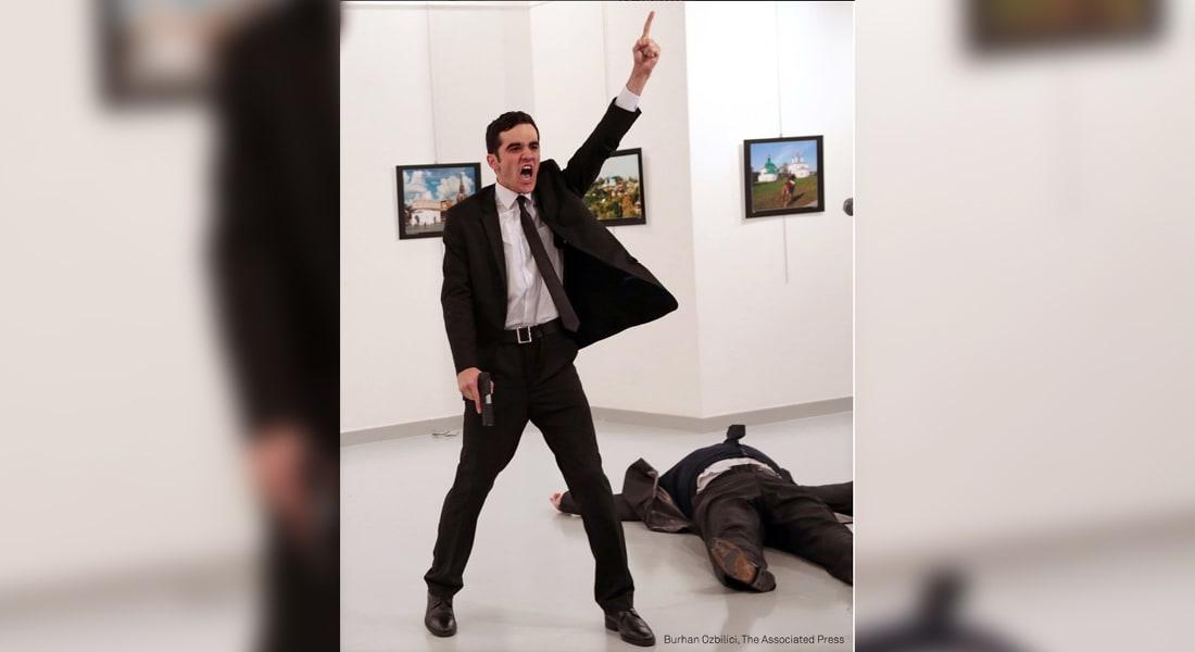صورة قاتل سفير روسيا بتركيا تحصد جائزة دولية وتتفوق على 80 ألف مشاركة