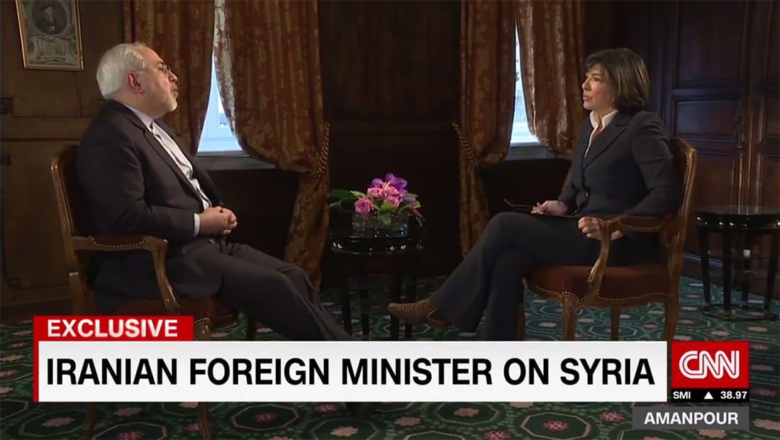 ظريف لـCNN: هناك أخطاء ارتكبت في سوريا.. ومن سلح داعش دعم صدام حسين سابقا