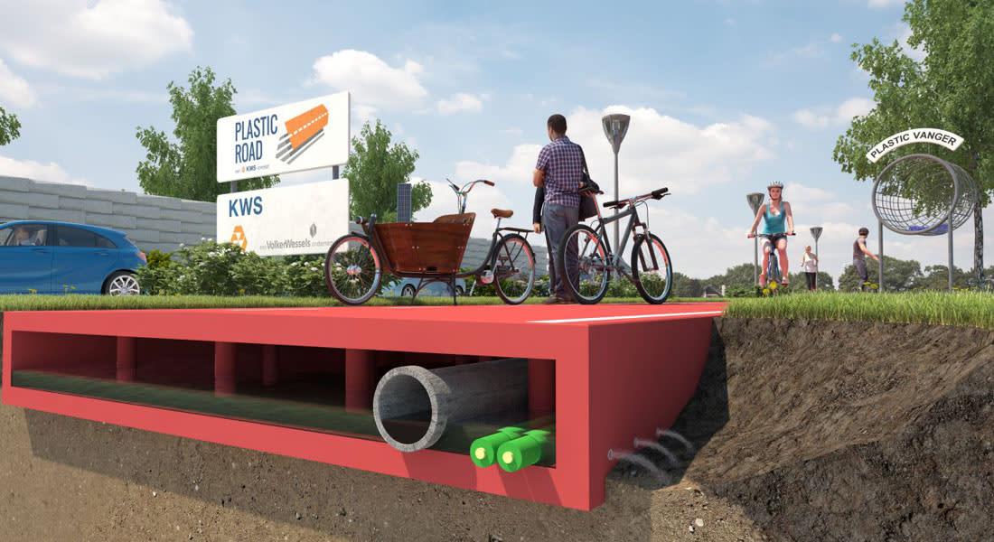 هكذا ستصنع هذه الشركة الشوارع من البلاستيك!