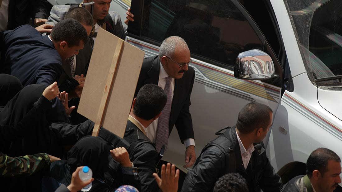 """صالح يهدد دول التحالف العربي باستخدام """"صواريخ بعيدة المدى"""": انزلوا الميدان فارس لفارس"""