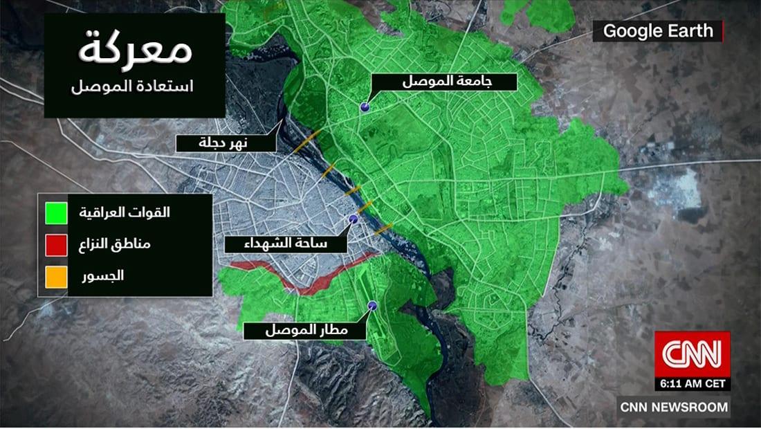 انفوجرافيك.. تقدم القوات العراقية بمناطق سيطرة داعش غرب الموصل