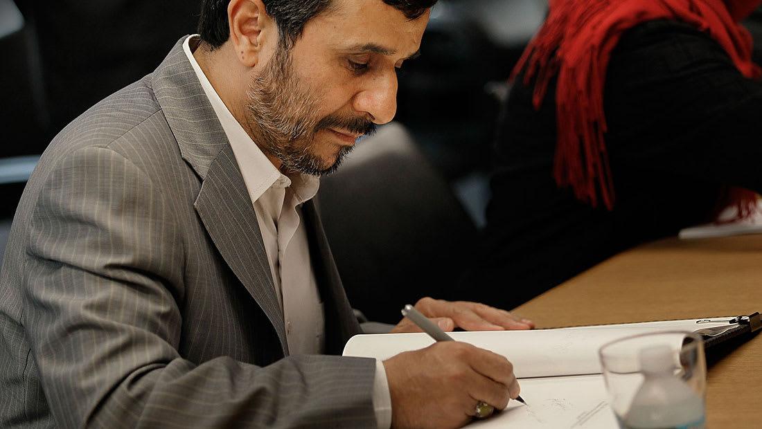"""محمود أحمد نجاد """"الإنسان"""" يكتب لترامب """"الرئيس"""": الحرب لا تجر إلا الحرب"""