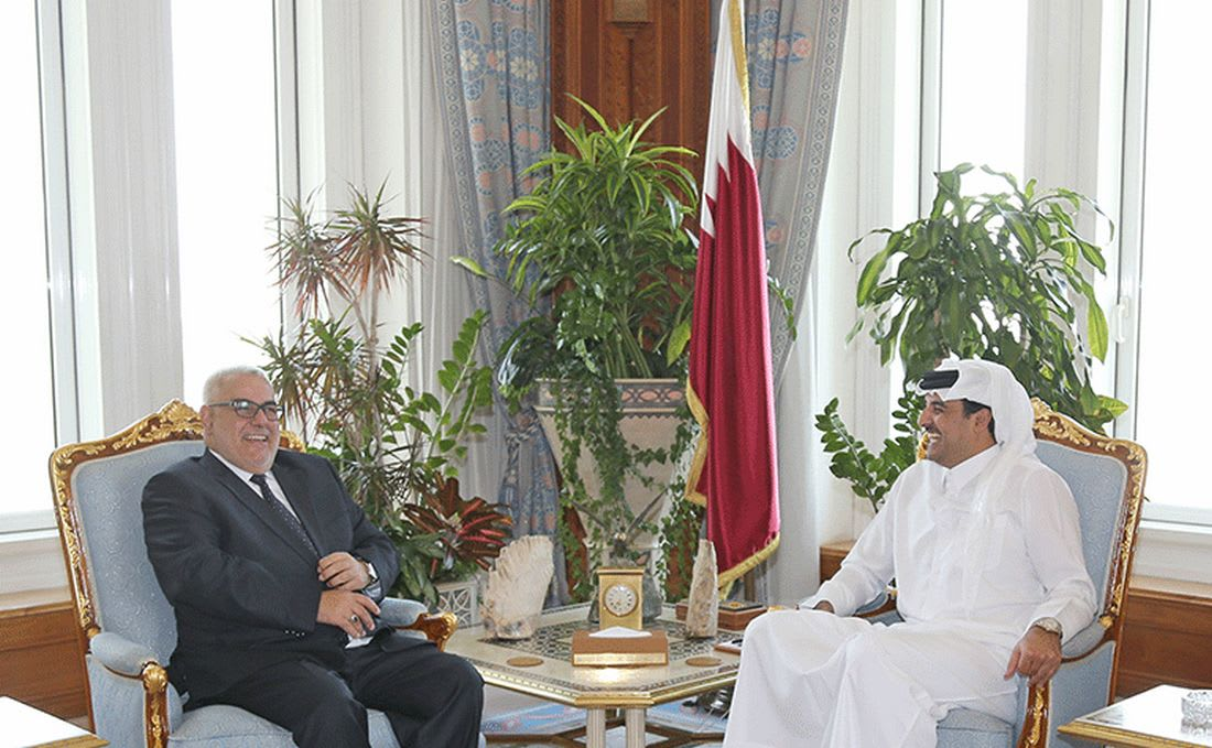أمير قطر يستقبل رئيس الحكومة المغربية في إطار مؤتمر كيتكوم