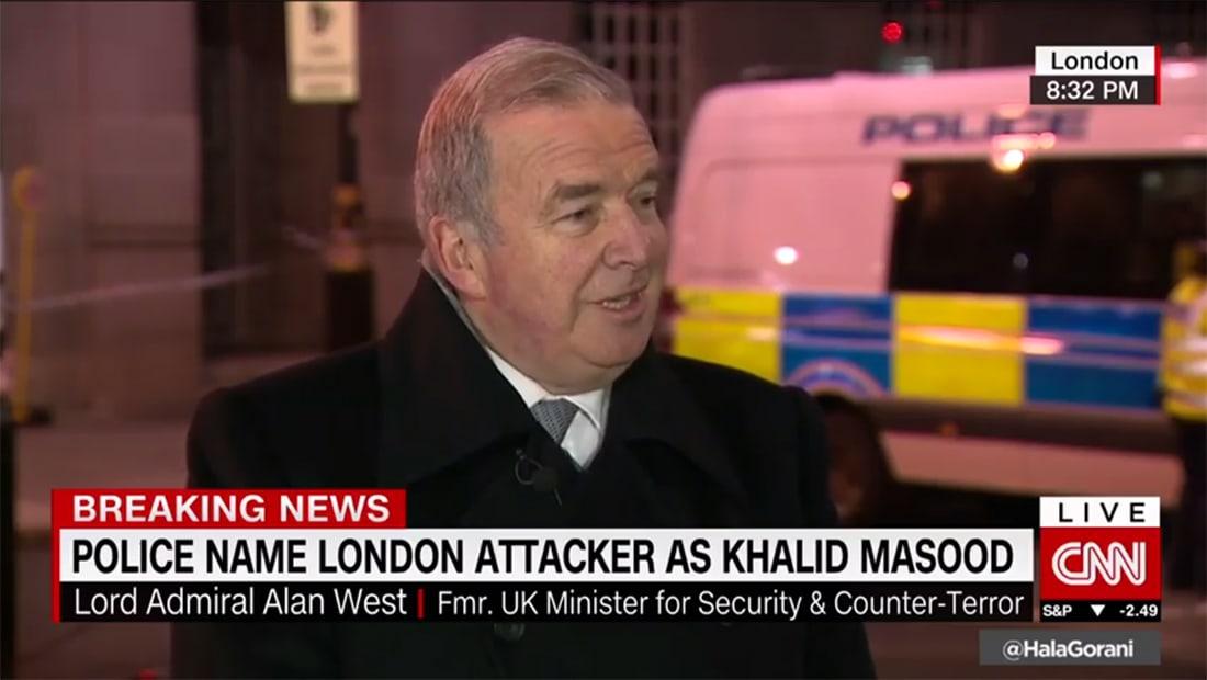 """وزير أمن بريطانيا الأسبق يبين لـCNN """"غرابة"""" إقدام مهاجم البرلمان وهو بهذا العمر"""