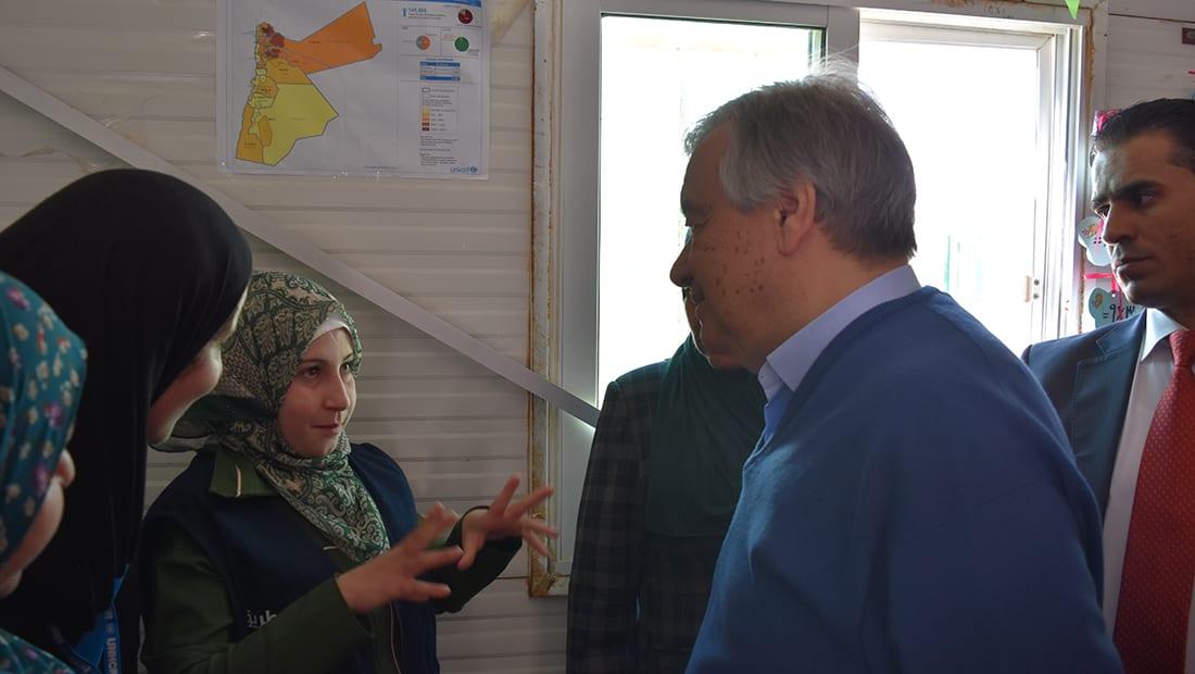 الأمين العام للـUN يبين لماذا لا يحب زيارة مخيمات اللاجئين