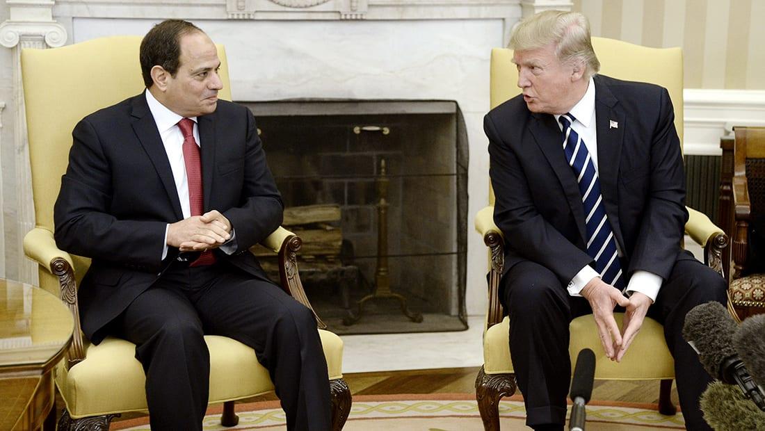 ترامب: السيسي قام بعمل رائع بظرف صعب وأمريكا تدعمه