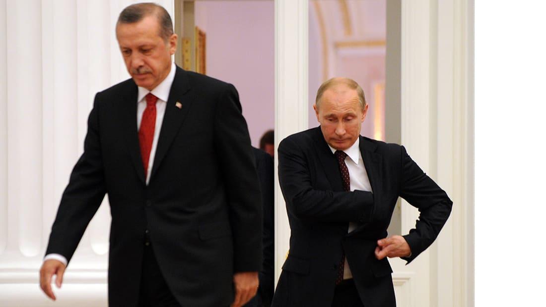 أردوغان لبوتين: لا يمكن القبول بالهجمات الكيماوية بسوريا