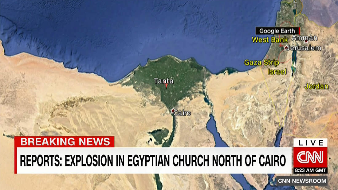 تلفزيون مصر: 21 قتيلا و50 جريحا بانفجار الكنيسة بطنطا